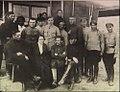 Etat major de l'armée insurrectionnelle Victor Belach, Galina Andreievna, Makhno et ses deux frères Savelli et Grigori.jpg