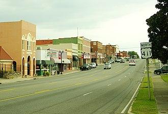 Etowah, Tennessee - Tennessee Avenue (US-411) in Etowah