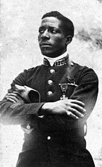Eugene Jacques Bullard, first African American combat pilot in uniform, First World War.jpg