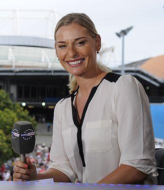 Barbara Schett - Image: Eurosport Studio Australian Open 2014 009