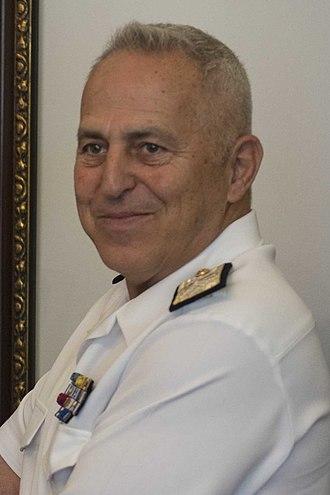Evangelos Apostolakis - Admiral Apostolakis in 2018