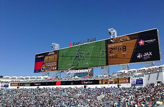 EverBank Field - New scoreboard and party deck installed in 2014