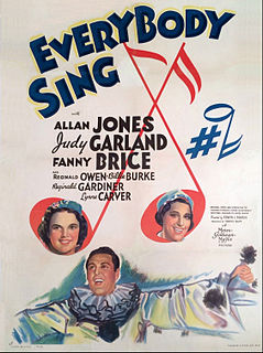 <i>Everybody Sing</i> 1938 film by Edwin L. Marin