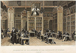 Durham University - An examination taking place in Cosin's Library, 1842