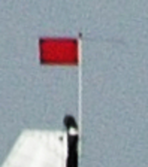 Apparent wind indicator - Image: Example of modern apparent wind indicator for dinghies and open keelboats