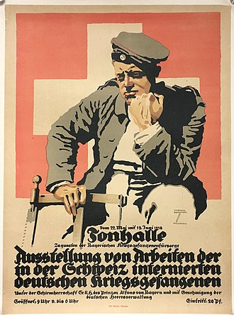Ludwig Hohlwein - Image: Exhibition to benefit WW1 German PO Ws 1918 by Ludwig Holhwein