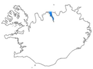 Eyjafjörður - Eyjafjörður shown in blue