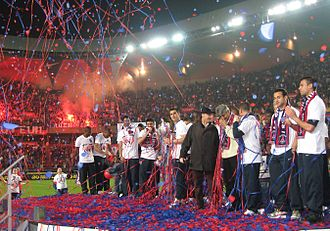Coupe de France - Paris Saint-Germain celebrating their 7th Coupe de France title (2006).