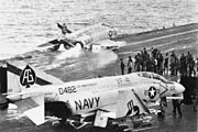 F-4Bs VF-41 launching from USS Independence (CVA-62) 1965
