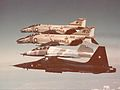 F-4N Phantoms of VFMA-323 in flight with CF-5A and CF-5B 1973.jpg