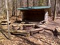 FLT M19 10.5 mi - Foxfire Lean-to (interior 8'x12') w picnic table, fire ring, and outhouse - panoramio.jpg