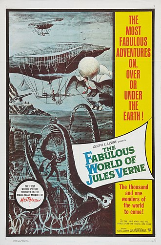 The Fabulous World of Jules Verne - Reynold Brown film poster for the American release, with the new title and advertising style