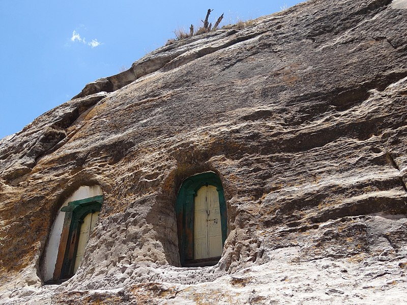 File:Facade of Mikael Melehayzenghi Rock-Hewn Church - Near Teka Tesfai - Ethiopia (8714453960).jpg
