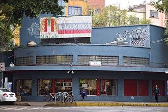 Michoacán Market - Michoacán Market facade detail.