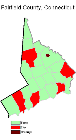 Fairfield county connecticut municipality types