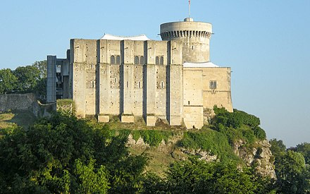Chateau de Falaise in Falaise, Lower Normandy, France; William was born in an earlier building here. Falaise Chateau Guillaume Conquerant 1.jpg