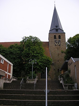 St. Andrew's Church, Lübbecke - The tower of the church is around 70 metres high.