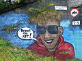 Fallowfield Loop - Sustrans mural on the Wellington Road bridge (9757355045).jpg