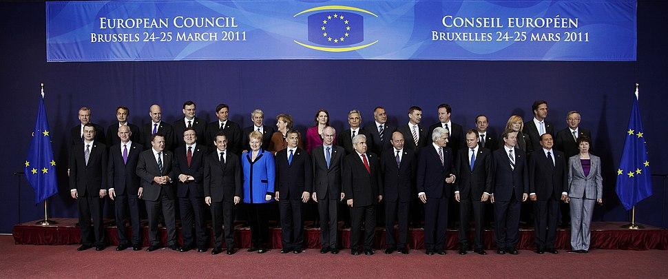 Familiefoto europese raad 2011