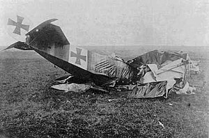 Heinrich Gontermann - Fokker Dr.I 115/17 in which Gontermann crashed on 30 October 1917