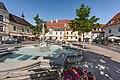 Feldkirchen Hauptplatz Nymphenbrunnen und Mariensäule 04062018 3561.jpg