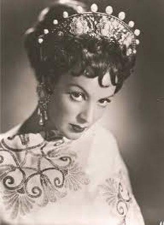 María Félix - María Félix in Messalina (1951).