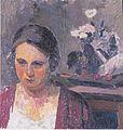 Felix Esterl - Frau des Künstlers mit Blumen - ca 1926.jpeg