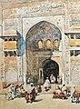 Figures on the steps of the Masjid Wazir Khan Lahore 1891.jpg