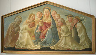 Madonna with Child and Angels and Saints
