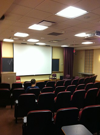 Film studies - Film screening room at Georgetown University, Washington D.C.