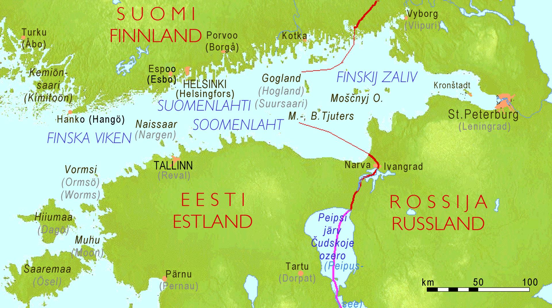 Suomenlahti Syvyys