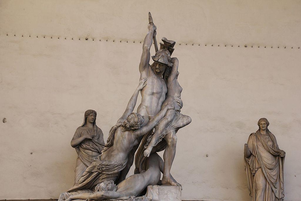 Pio Fedi, Neottolemo rapisce Polissena da Ecuba, 1855-1865, Loggia dei Lanzi, Piazza della Signoria, Firenze