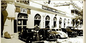 Secunderabad - The first car showroom that was opened in Secunderabad in 1912 at James Street, c. 1950