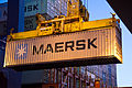 First Daily Maersk container arriving in Felixstowe 17 Nov 2011 (2) (8056484436).jpg