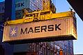 First Daily Maersk container arriving in Felixstowe 17 Nov 2011 (2) (8056484436).jpg