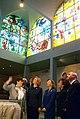 First Lady Hillary Rodham Clinton and Sara Netanyahu viewing the Chagall Windows at Hadassah University Medical Center.jpg