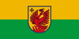 Vitebsk Region - Image: Flag of Dagdas novads