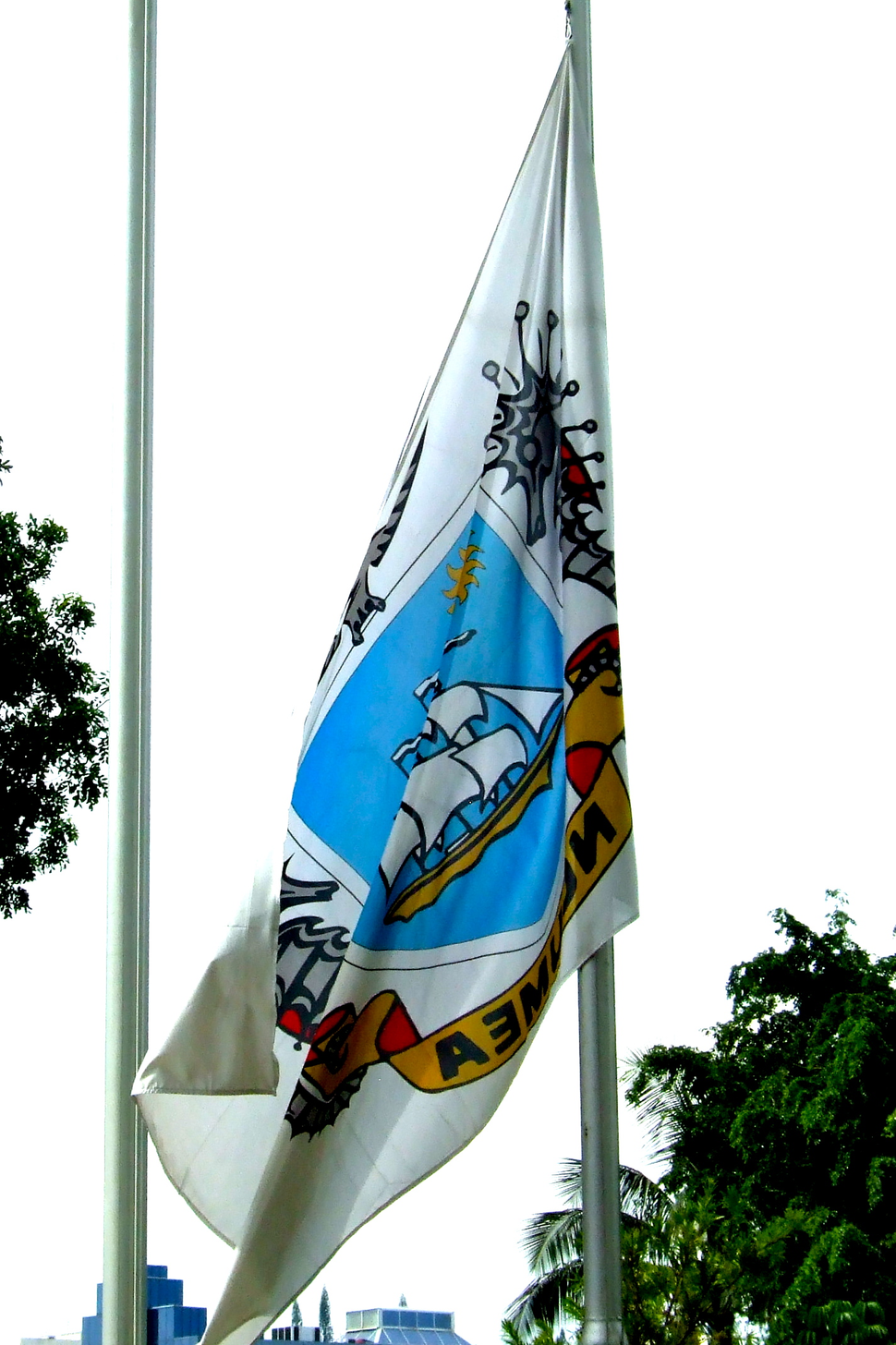 Flag of the city of Nouméa, New Caledonia