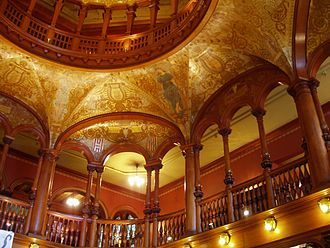 Ponce de Leon Hotel - An interior view of the hotel's rotunda and ceiling mural.
