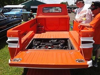 Chevrolet Greenbrier - 1962 Rampside Pickup - rear engine placement under loadbed