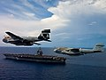 Flickr - Official U.S. Navy Imagery - EA-6B Prowlers fly near USS Enterprise..jpg