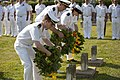 Flickr - Official U.S. Navy Imagery - Spanish navy sailors lay wreaths..jpg