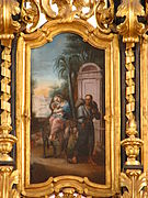 Saint Joseph leaves Bethlehem with his family