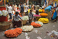 Flower sellers at City Market, Bangalore in May 2008.jpg