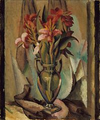 Flowers in a Handled Vase
