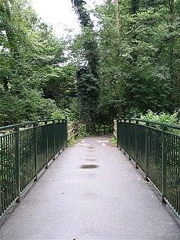 Footbridge over river Garw - geograph.org.uk - 550755