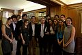 Former Colombian President Alvaro Uribe with his students from Georgetown University in Washington, D.C.jpeg