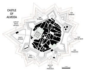 Castle Fortress of Almeida - A plan of the castle/fortress of Almeida