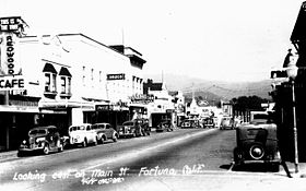 Fortuna, California, Main St., 1940s.jpg
