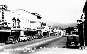 Fortuna, California - Main Street Fortuna in the 1940s